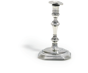 A GEORGE I SILVER TAPERSTICK