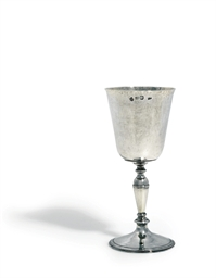 A CHARLES I SILVER GOBLET