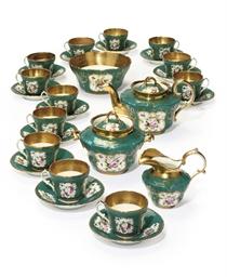 A porcelain tea-service