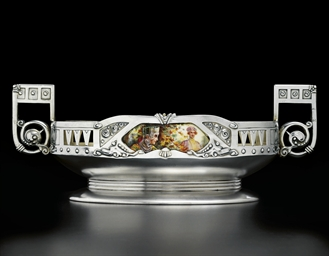 A silver-gilt and en plein ena