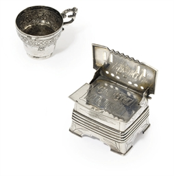 A silver salt throne and chark