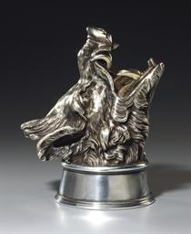 A silver stirrup cup