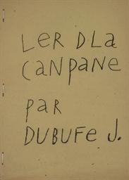 DUBUFFET, Jean (1901-1985). Le