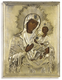 A LARGE ICON OF THE MOTHER OF
