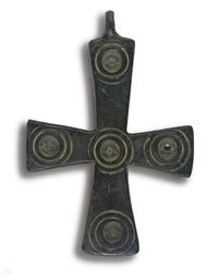 A BRONZE PENDANT CROSS BYZANTI