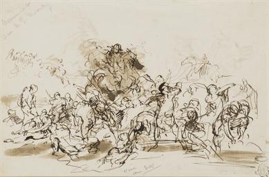 Une scène de bataille (recto);