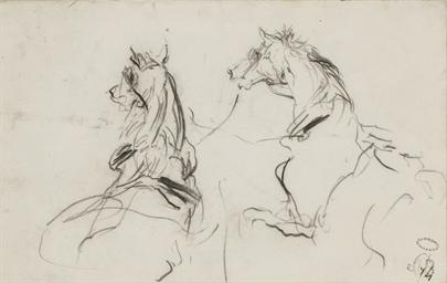 Deux chevaux; et Une figure as
