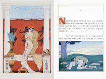 [BARBIER] -- LOUYS, Pierre (1870-1925). Les Chansons de Bilitis. Seul texte véritable et complet. Imprimé à Mitylène pour les amis de Bilitis [Paris: P. Boucher], 1929.