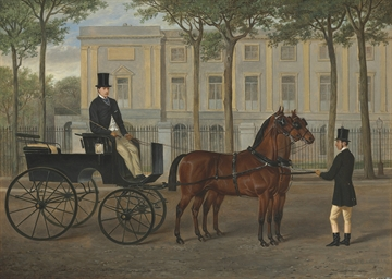 A hackney carriage with driver