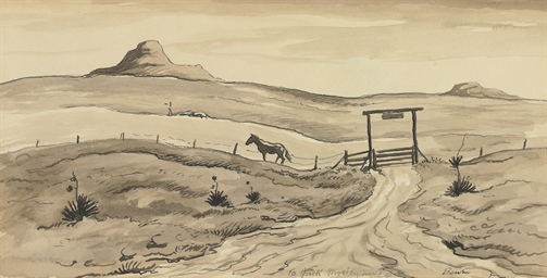 Prairie Landscape with Corral
