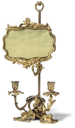 A FRENCH ORMOLU TWIN BRANCH LA