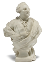 A WHITE MARBLE BUST OF LOUIS X