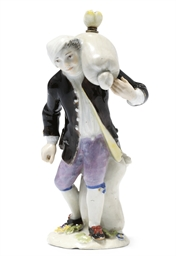 A MEISSEN FIGURE OF STREET-TRA