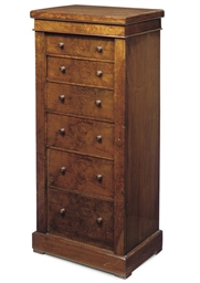 A LATE VICTORIAN WALNUT WELLIN