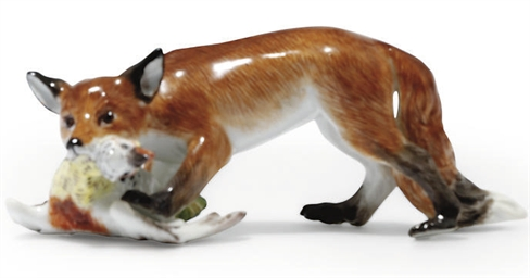 A MEISSEN MODEL OF A STEALING
