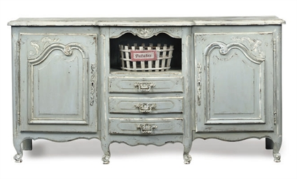 A FRENCH PROVINCIAL PALE BLUE