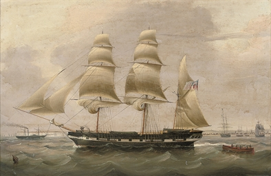 A three-masted barque in The D