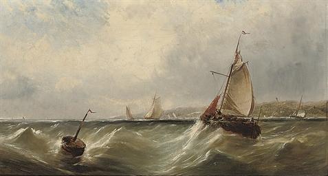Fishing vessels off the coast