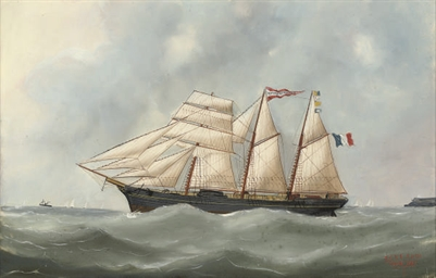 The French barquentine Marguer