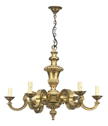 AN ITALIAN GILTWOOD SIX BRANCH