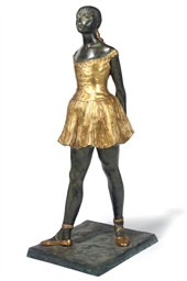 A BRONZE FIGURE OF A DANCER