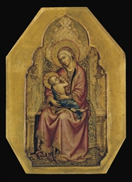 The Madonna and Child Enthrone