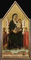 The Madonna and Child enthroned with Saints Bartholomew and Ansanus and a donor
