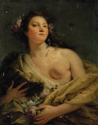 Portrait of a lady as Flora