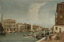 The Grand Canal, Venice, with Ca' Pesaro and Palazzo Foscarini-Giovannelli, from the Campiello of the Palazzo Gussoni