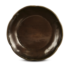 A RARE BROWN LACQUER PRUNUS-SH