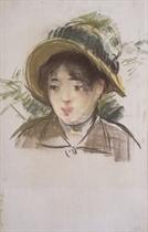 Jeune fille en chapeau d'été