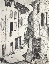 Rue à Collioure, Quartier du Mirador