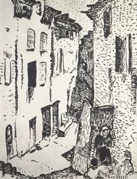 Rue à Collioure, Quartier du M