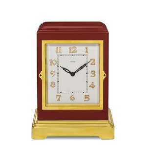 AN ART DECO CLOCK, BY CARTIER