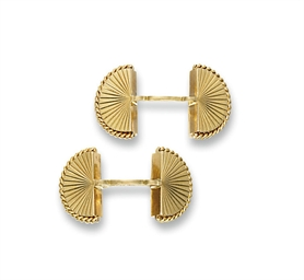 A PAIR OF CUFFLINKS, BY CARTIE