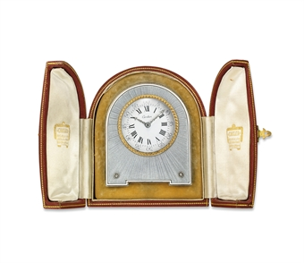 A BELLE EPOQUE DESK CLOCK, BY CARTIER