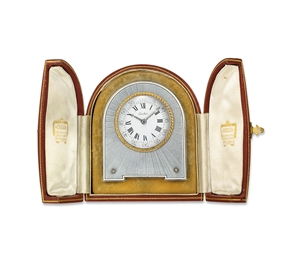 A BELLE EPOQUE DESK CLOCK, BY