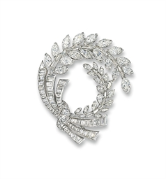 A DIAMOND BROOCH, BY CARTIER