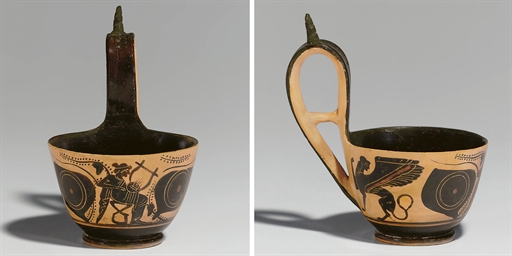 AN ATTIC BLACK-FIGURED KYATHOS
