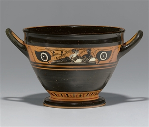 AN ATTIC BLACK-FIGURED SKYPHOS