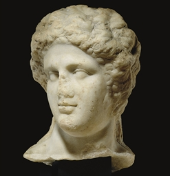 A ROMAN MARBLE HEAD OF BACCHUS