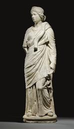 A ROMAN MARBLE HYGIEIA