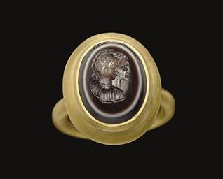 A ROMAN EYE AGATE RINGSTONE