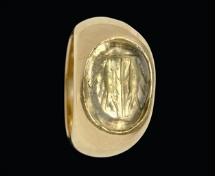 AN EARLY CHRISTIAN GLASS RINGS
