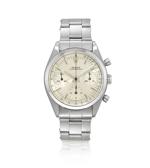 ROLEX, REF. 6234 PRE-DAYTONA  STAINLESS STEEL MANUAL-WINDING CHRONOGRAPH BRACELET WATCH