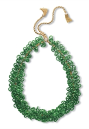 A JADEITE DOUBLE-HOOP, TRIPLE-