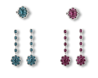 A SET OF ALEXANDRITE AND DIAMO