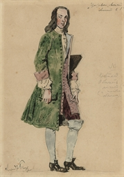 Costume design for a courtier