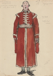 Costume design for a coachman