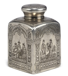 A RUSSIAN SILVER CHINOISERIE T